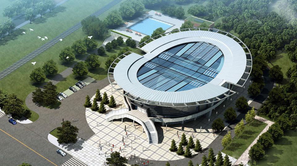江门滨江体育中心游泳馆